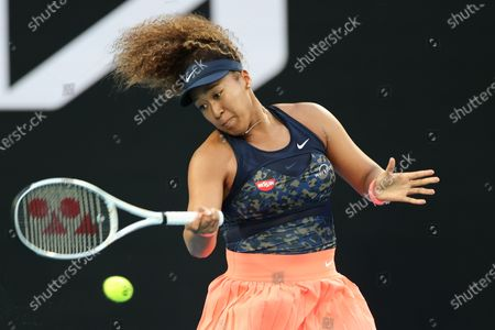 3rd seed Naomi OSAKA of Japan in action against Caroline GARCIA of France in a 2nd round match on day 3 of the Australian Open on Rod Laver Arena, in Melbourne, Australia