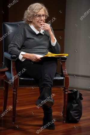 Stock Photo of Judge and politician Manuela Carmena during a conference on the exhibition Concepcion Arenal: humanist passion 1820-1893 in Madrid, Spain, on February 9, 2021  (Photo by Oscar Gonzalez/NurPhoto)