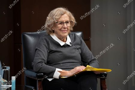 Editorial picture of Manuela Carmena Conference, Madrid, Spain - 09 Feb 2021