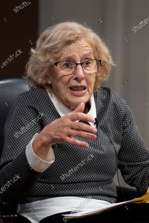 Stock Picture of Judge and politician Manuela Carmena during a conference on the exhibition Concepcion Arenal: humanist passion 1820-1893 in Madrid, Spain, on February 9, 2021  (Photo by Oscar Gonzalez/NurPhoto)