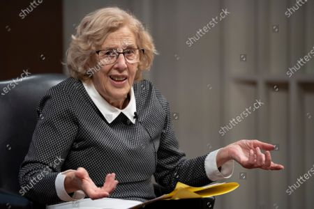 Judge and politician Manuela Carmena during a conference on the exhibition Concepcion Arenal: humanist passion 1820-1893 in Madrid, Spain, on February 9, 2021  (Photo by Oscar Gonzalez/NurPhoto)