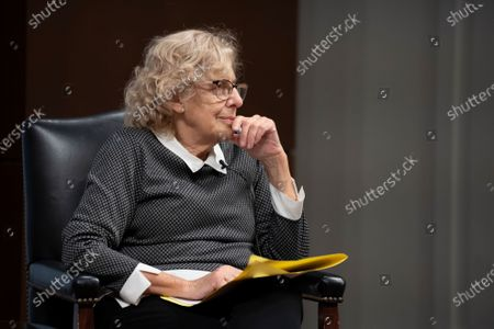 Stock Image of Judge and politician Manuela Carmena during a conference on the exhibition Concepcion Arenal: humanist passion 1820-1893 in Madrid, Spain, on February 9, 2021  (Photo by Oscar Gonzalez/NurPhoto)