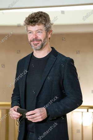 Stock Image of opera musical director Pablo Heras Casado poses during the presentation of the opera SIEGFRIED, BY RICHARD WAGNER at the real theater in Madrid. February 9, 2021 Spain.  (Photo by Oscar Gonzalez/NurPhoto)