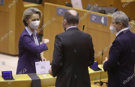 Editorial photo of EU Parliament debateS on the state of play of the EU's Covid-19 vaccination strategy, Brussels, Belgium - 10 Feb 2021