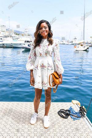 Stock Image of MONTE CARLO, MONACO - MAY 11: Actress Naomi Harris during the Monaco E-prix at Monte Carlo on May 11, 2019 in Monte Carlo, Monaco. (Photo by Sam Bagnall / LAT Images)