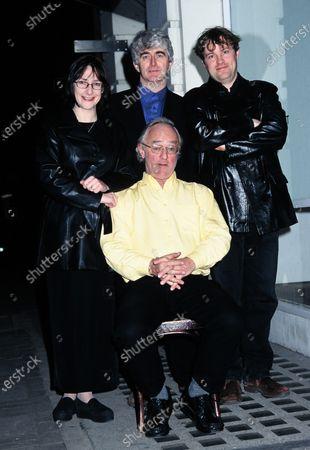 L -R Pauline McLynn, Dermot Morgan, Frank Kelly and Ardal O'Hanlon - Father Ted 1998
