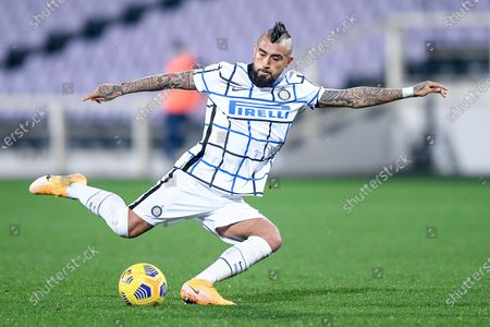 Arturo Vidal of FC Internazionale during the Serie A match between ACF Fiorentina and FC Internazionale at Stadio Artemio Franchi, Florence, Italy on 5 February 2021.  (Photo by Giuseppe Maffia/NurPhoto)