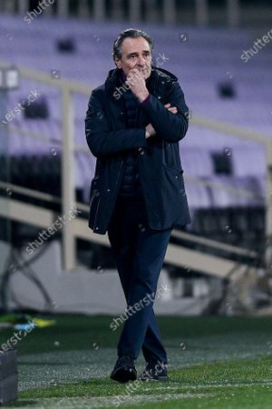 Cesare Prandelli manager of ACF Fiorentina during the Serie A match between ACF Fiorentina and FC Internazionale at Stadio Artemio Franchi, Florence, Italy on 5 February 2021.  (Photo by Giuseppe Maffia/NurPhoto)
