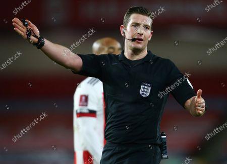 Referee Mr Robert Jones