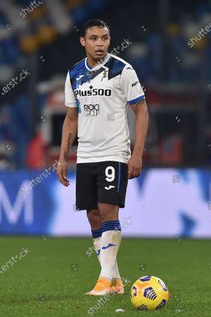 Luis Muriel of Atalanta BC during the Coppa Italia match between SSC Napoli and Atalanta BC at Stadio Diego Armando Maradona Naples Italy on 3 February 2021. (Photo by Franco Romano/NurPhoto)