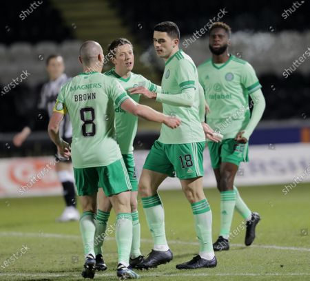 Tom Rogic of Celtic celebrates scoring to give them a 1-0 lead