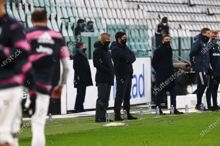Pavel Nedved and Andrea Agnelli of Juventus before the Serie A football match between Juventus FC and AS Roma at Allianz Stadium on February 06, 2021 in Turin, Italy.Juventus won 2-0 over Roma. (Photo by Massimiliano Ferraro/NurPhoto)