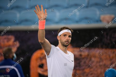 Bulgaria's Grigor Dimitrov celebrates after defeating Australia's Alex Bolt during their second round match at the Australian Open tennis championship in Melbourne, Australia