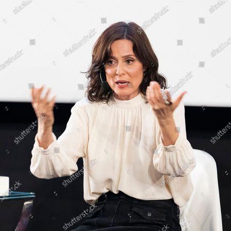 Stock Image of Aitana Sánchez-Gijón during the presentation of the book 'Aitana Sanchez-Gijon: Cintas Y Letras'