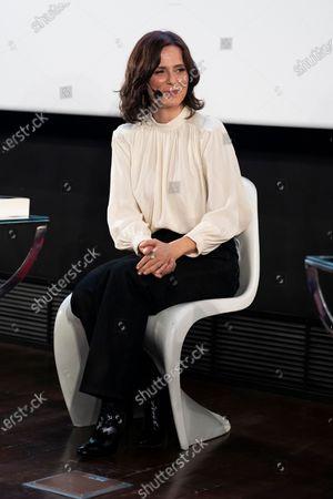 Stock Picture of Aitana Sánchez-Gijón during the presentation of the book 'Aitana Sanchez-Gijon: Cintas Y Letras'