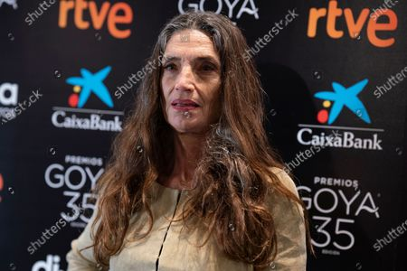 Angela Molina attends a press conference for her Honorary Goya Award at Academia de Cine