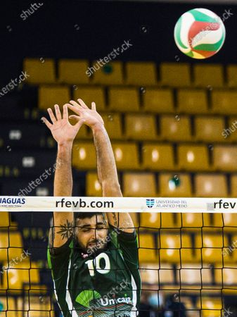 Javier Iribarne Fernandez Francisco of Unicaja Costa de Almeria during the Copa del Rey match between CV Guaguas and Unicaja Costa de Almería at Centro Insular de Deportes in Las Palmas de Gran Canaria, Spain.