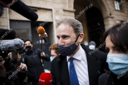 Founding member of the Five Star Movement (M5S) Davide Casaleggio arrives before a meeting with the designated Prime Minister Mario Draghi on formation of a new government at the Chamber of Deputies (Montecitorio)