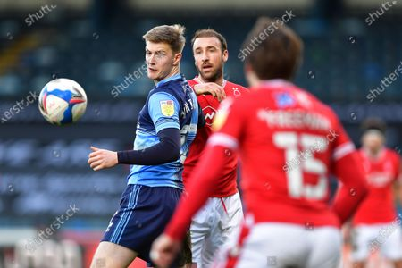 Glenn Murray (25) of Nottingham Forest and Josh Knight of Wycombe Wanderers
