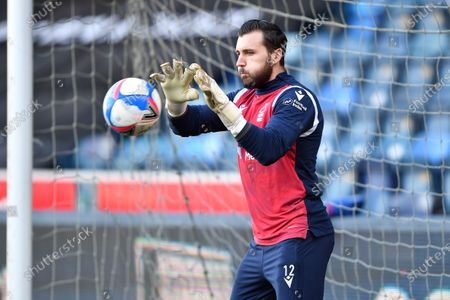 Jordan Smith (12) of Nottingham Forest warms up ahead of kick-off
