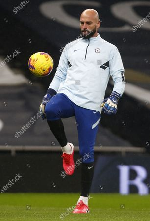 Chelsea's Willy Caballero during the pre-match warm-up