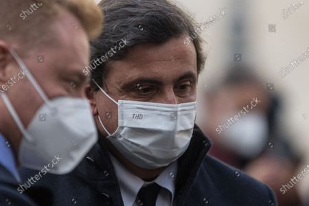 Carlo Calenda Outside the Chamber of Deputies as Prime Minister-designate Mario Draghi meets with parliamentary groups on the formation of a new government in Montecitorio