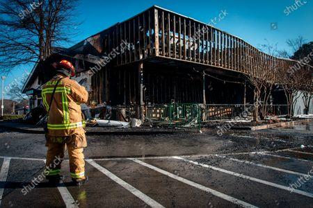 Editorial image of Krispy Kreme Fire , Atlanta, United States - 10 Feb 2021