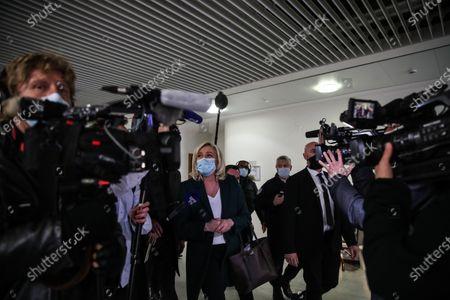 Editorial photo of Trial of Marine Le Pen in Paris, France - 10 Feb 2021