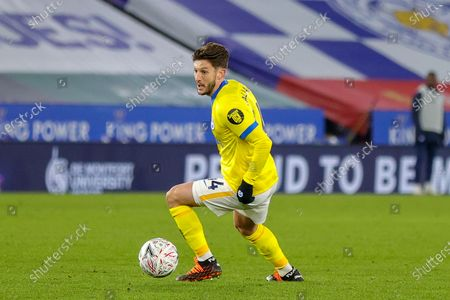 Adam Lallana (14) of Brighton & Hove Albion on the ball during the FA Cup 5th round match between Leicester City and Brighton and Hove Albion at the King Power Stadium, Leicester