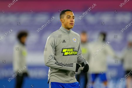 Youri Tielemans (8) of Leicester City warms up during the FA Cup 5th round match between Leicester City and Brighton and Hove Albion at the King Power Stadium, Leicester