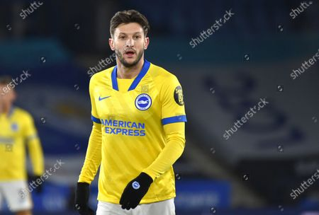 Stock Photo of Brighton's Adam Lallana during the English FA Cup fifth round soccer match between Leicester City and Brighton and Hove Albion at the King Power Stadium in Leicester, England