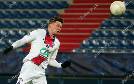 Julian Draxler of Paris Saint Germain in action during the Coupe de France round of 32 soccer match between SM Caen and PSG in Caen, north western France, 10 February 2021.