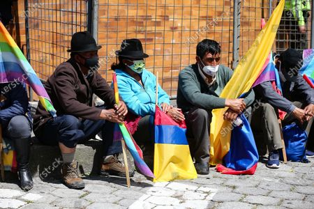 Editorial photo of Yaku Perez supporters expect election results amid protests, Quito, Ecuador - 10 Feb 2021
