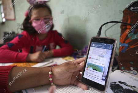 Editorial photo of Virus Outbreak Village Education, Bogota, Colombia - 10 Feb 2021