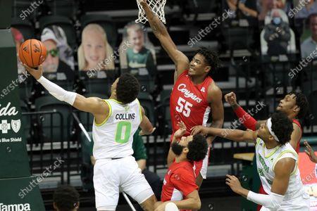Editorial photo of Houston South Florida Basketball, Tampa Florida, United States - 10 Feb 2021