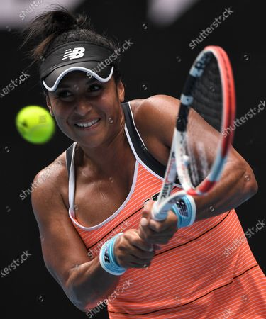 Heather Watson in action during her second round match