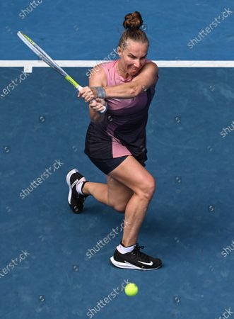 Svetlana Kuznetsova in action during her second round match