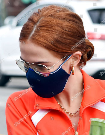 Zoey Deutch is seen getting coffee to-go