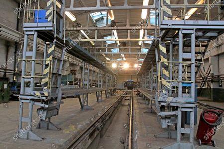 Trains that have 500,000km mileage undergo regular maintenance in the metro train repair shop in Dnipro, central Ukraine.
