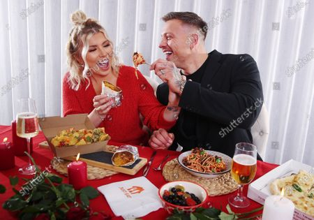 Stock Picture of Alex Bowen and Olivia Bowen have partnered with Just Eat to enjoy a 'Breakaway' - going their separate ways with their orders to enjoy the foods they love this Valentine's Day.