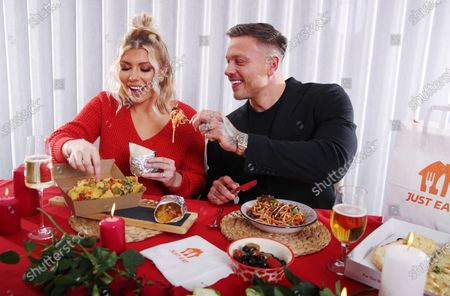 Alex Bowen and Olivia Bowen have partnered with Just Eat to enjoy a 'Breakaway' - going their separate ways with their orders to enjoy the foods they love this Valentine's Day.