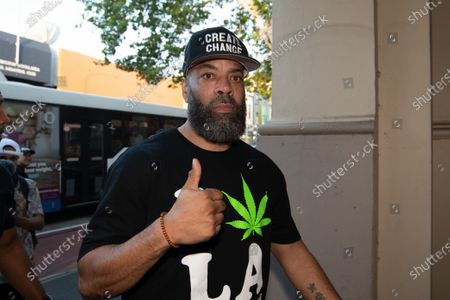 Stock Image of NWA founding member Tracy Lynn Curry aka The D.O.C arrives for the Australian premiere of his documentary GFUNK