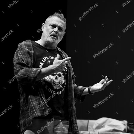 Actor Pablo Carbonell performs on stage during the 'Blablacoche' Theatre Play at the Teatros del Canal on February 10, 2021 in Madrid, Spain. (Photo by Oscar Gonzalez/NurPhoto)