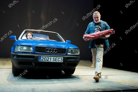 Stock Picture of Actor Pablo Carbonell performs on stage during the 'Blablacoche' Theatre Play at the Teatros del Canal on February 10, 2021 in Madrid, Spain. (Photo by Oscar Gonzalez/NurPhoto)