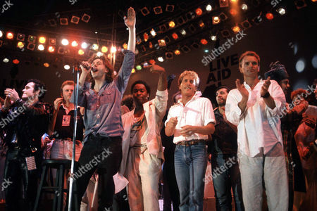 Adam Ant, Mark Brzezicki, Bob Geldof, Tony Butler, Roger Daltrey of the Who and Sting