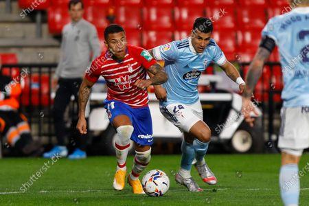 Darwin Machis, of Granada CF and Jeison Murillo, of RC Celta