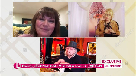 Lorraine Kelly, Dolly Parton, Barry Gibb