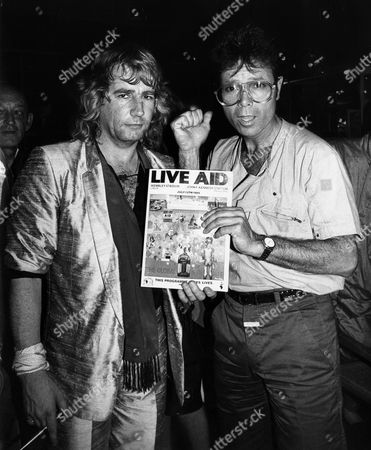 Rick Parfitt with Sir Cliff Richard