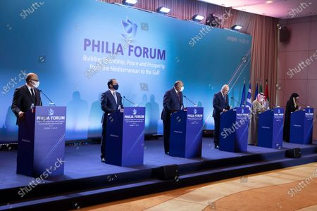 Editorial photo of Philia Forum held in Athens, Greece - 11 Feb 2021