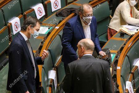 Editorial photo of Politics Chamber Plenary Session, Brussels, Belgium - 11 Feb 2021